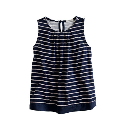 Girls' tank in rope stripe