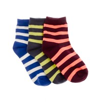Boys' athletic socks three-pack