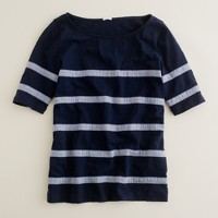 Chambray-stripe tee
