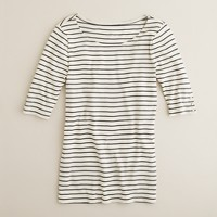 Perfect-fit stripe snap tee