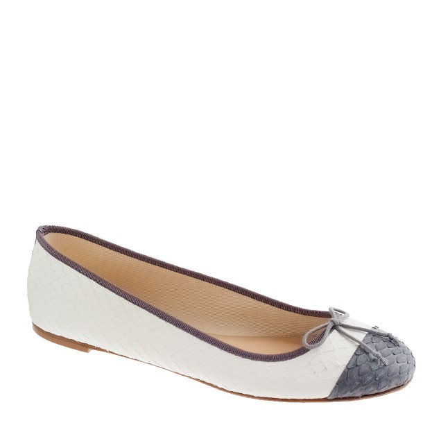 Collection classic snakeskin ballet flats