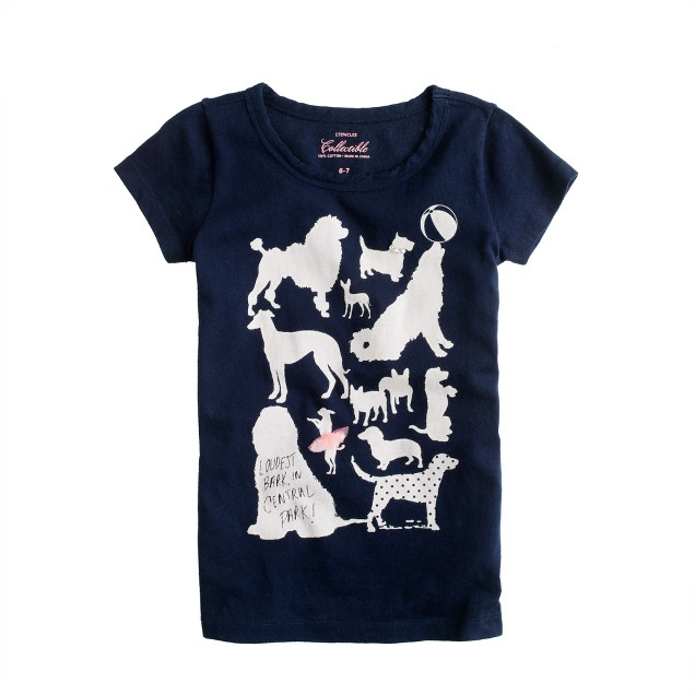 Girls' loudest bark tee