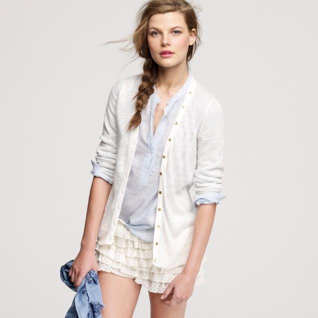 Linen island cardigan