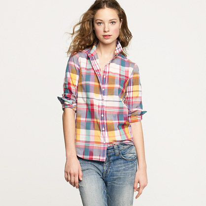 Boy shirt in ikat madras