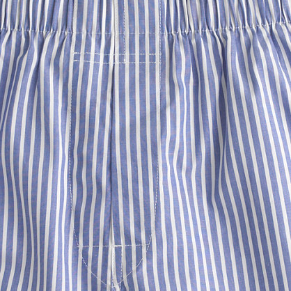 Blue-and-white stripe boxers