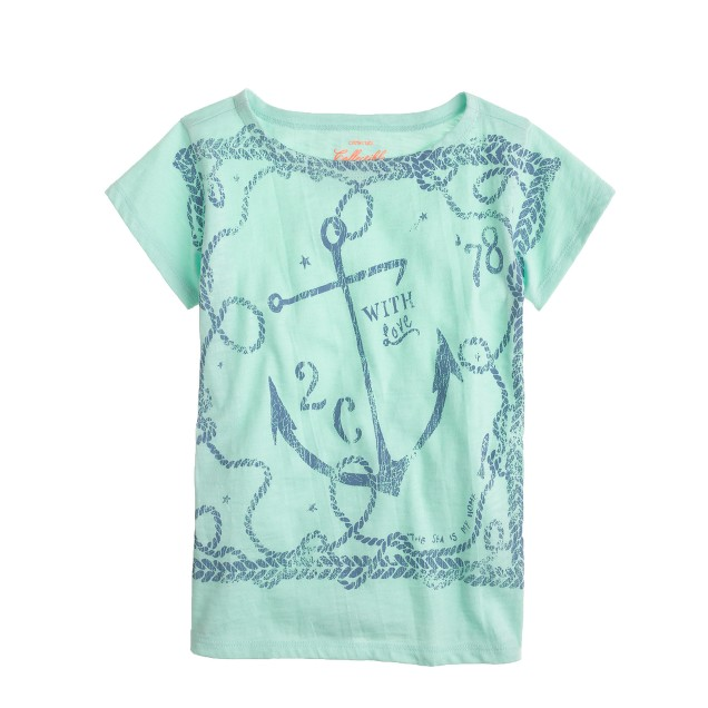 Girls' anchor and rope tee