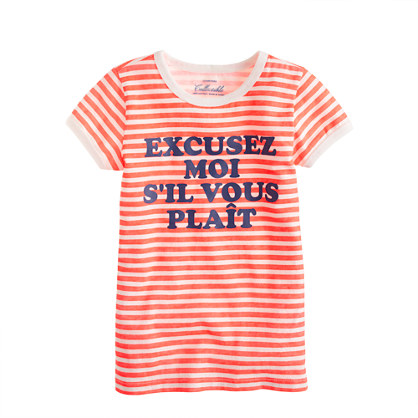 Girls' excusez moi tee