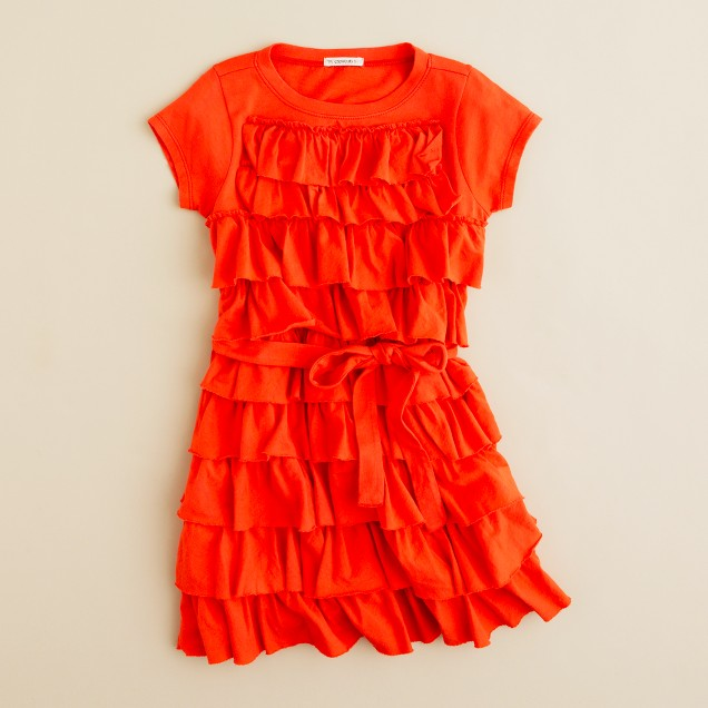 Girls' cupcake ruffle dress