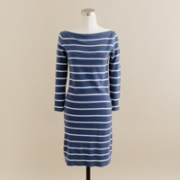 Cashmere stripe sweater-dress