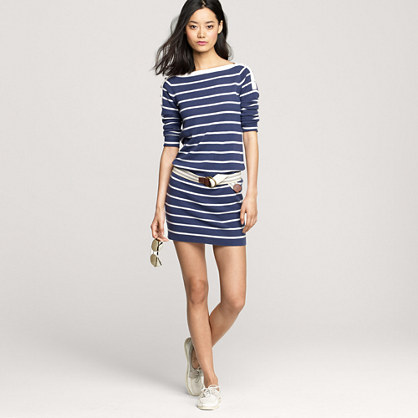 Cashmere stripe sweater-dress