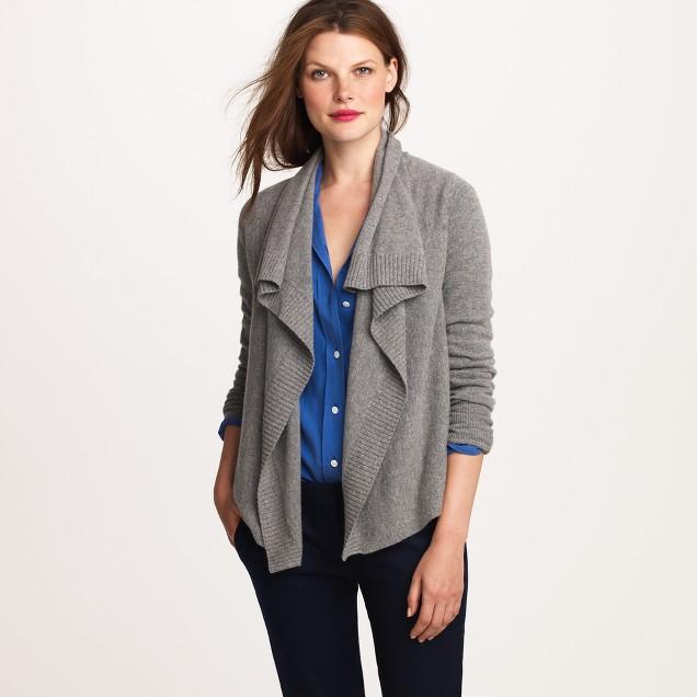 Cashmere shawl cardigan