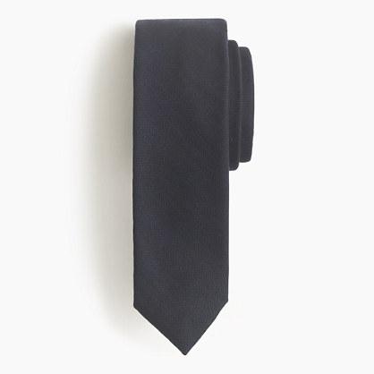Italian wool tie in mini-herringbone