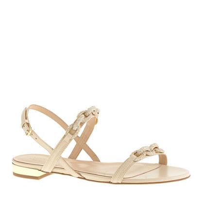 Collection pavé chainlink sandals