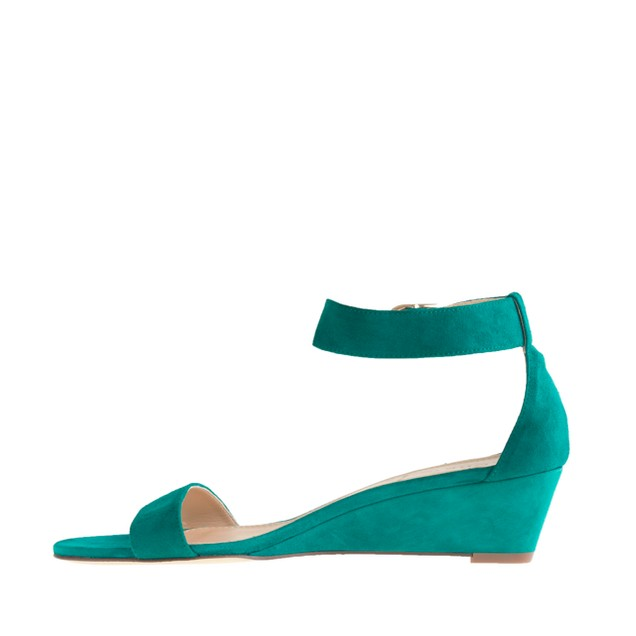 Lillian suede low wedges