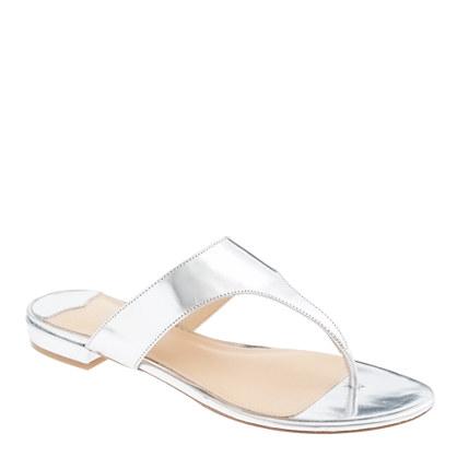 Tybee metallic slide sandals