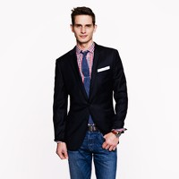 Ludlow blazer with double vent in Italian wool