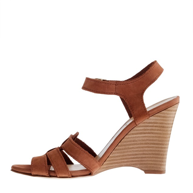 Esther nubuck gladiator wedges