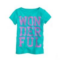 Girls' wonderful tee