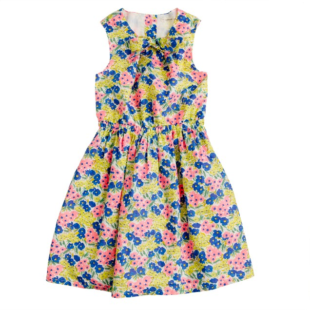 Girls' garden floral dress