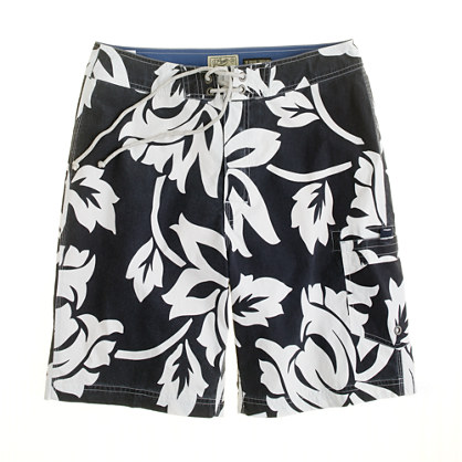 "9"" board short in bay floral"