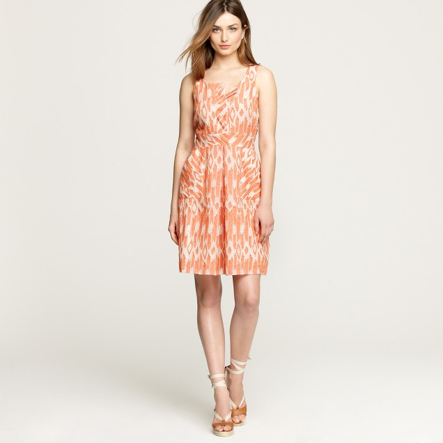 Caroline dress in ikat