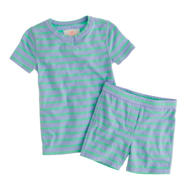 Girls' short-sleeve sleep set in stripe