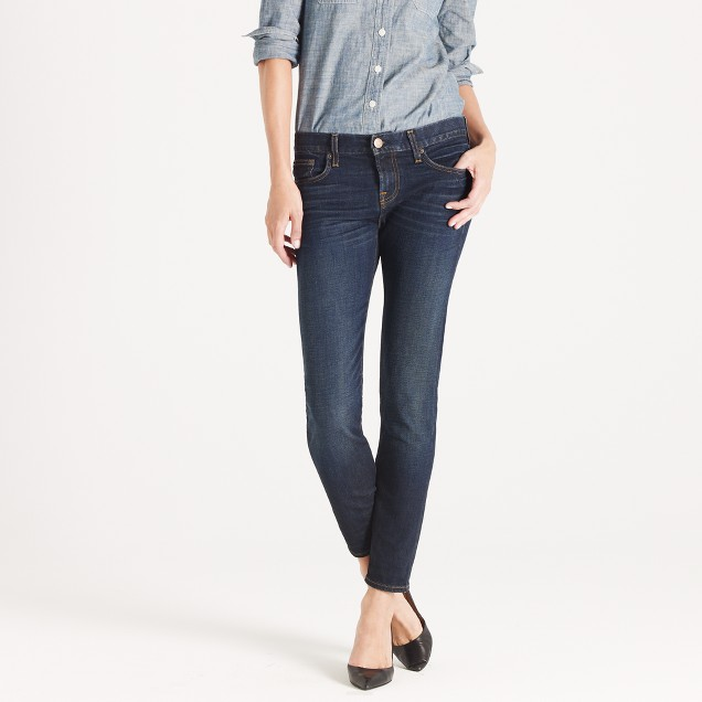 Ankle stretch toothpick jean in selvedge denim