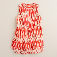 Girls' wild ikat dress