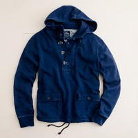 Indigo hooded henley