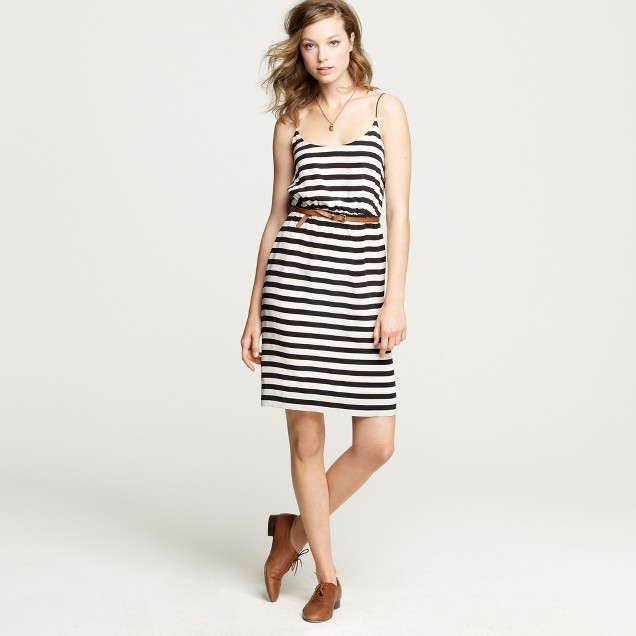 Stripe blouson dress