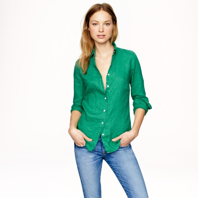 Tall perfect shirt in linen