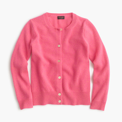 Girls' cashmere cardigan sweater
