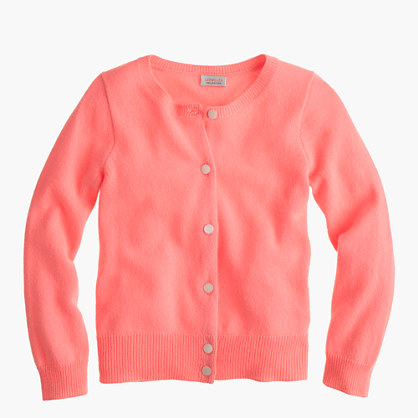 Girls' cashmere cardigan sweater