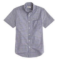 Thomas Mason® for J.Crew short-sleeve Ludlow shirt in navy gingham