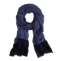 Diamond-print scarf