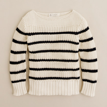 Boys' cotton sailor sweater