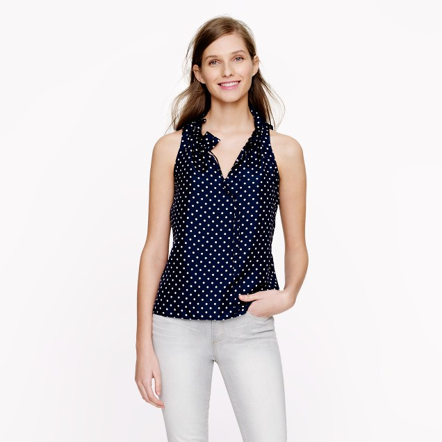 Polka-dot ruffle top
