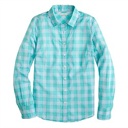Perfect shirt in mint plaid