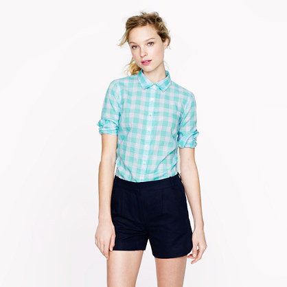 Perfect shirt in mint plaid