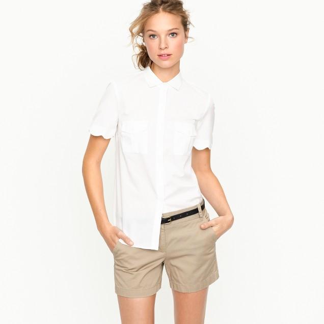 Scallop short-sleeve shirt
