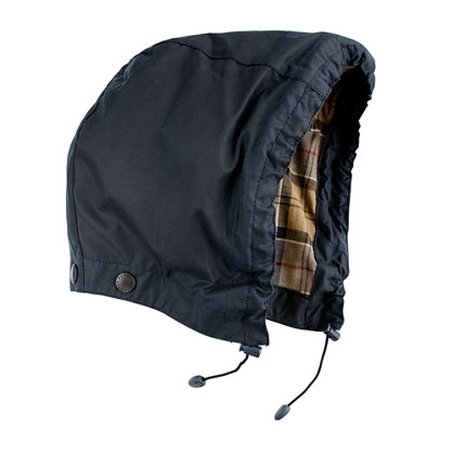 Barbour® waxed cotton removable hood