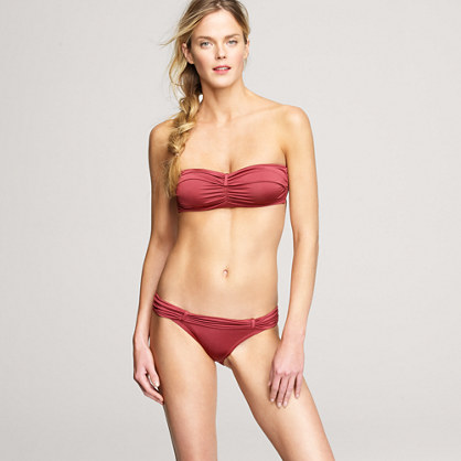 Jersey Lomellina® cinched bandeau top