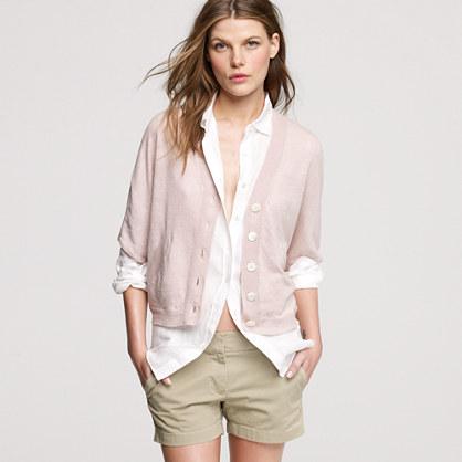 Linen cape cardigan