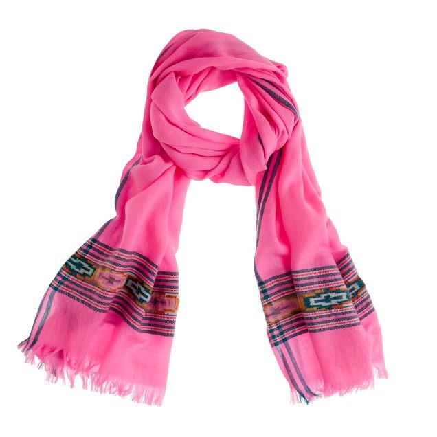 Crossed lines scarf