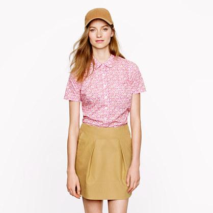 Liberty peter-pan shirt in saeed floral