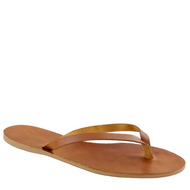 Vineyard leather flip-flops