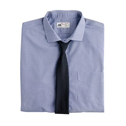 Thomas Mason® for J.Crew spread-collar dress shirt in minigingham