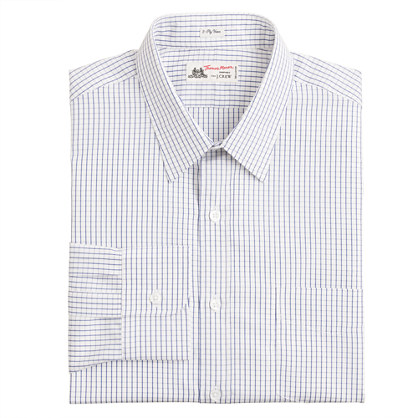 Thomas Mason® for J.Crew point-collar dress shirt in blue windowpane