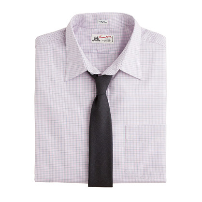 Thomas Mason® for J.Crew point-collar dress shirt in mini-tattersall