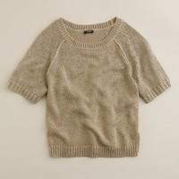 Metallic slouch sweater
